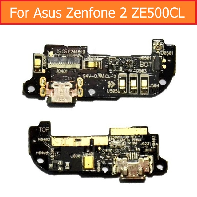 Genuine USB Charger Dock Connector Board Flex Cable For Asus Zenfone 2 Z00D ZE500CL Charging Jack Port Board Repair Parts