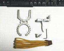 Нержавеющая сталь Рогатка резиновый держатель + релиз устройство Рогатка триггер 12 резиновых полос Advanced-DIY аксессуары для проектора