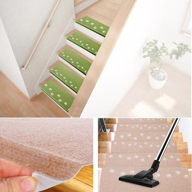 1pc Stair Mat Footprint Luminous Visual Carpet Treads Pad Self Adhesive Staircase Mats Non