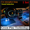1 Set Atmosphere RGB LED Strip Light Car Music Control 7 Color Acoustic Source Lamp Interior Styling Sound control string Light