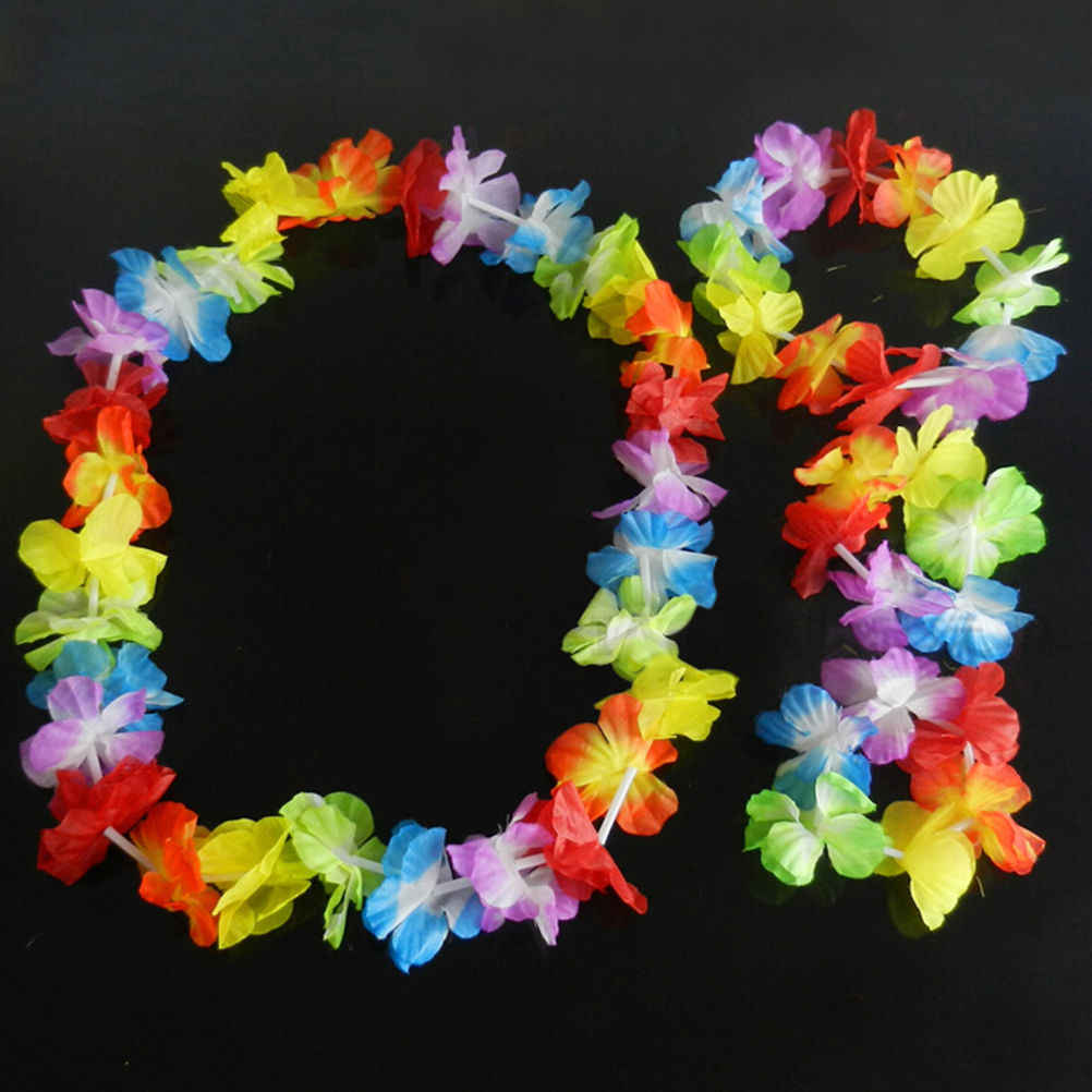 4 Pz/set Hawaiian Tropical Hula Luau Grass Testa di Ballo Collo Polso Ghirlanda Cheerleading Souvenir Di Natale Decor