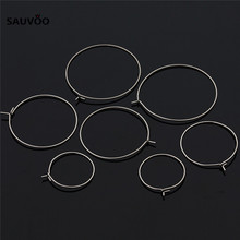 Stainless Steel Big Circle Wire Hoops