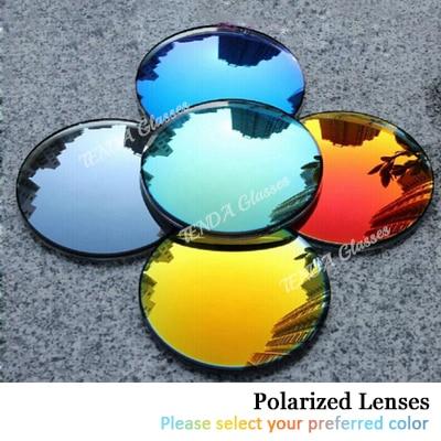 Fashion Colorful Mirrored Reflective Sunglasses Polarized Prescription Lenses