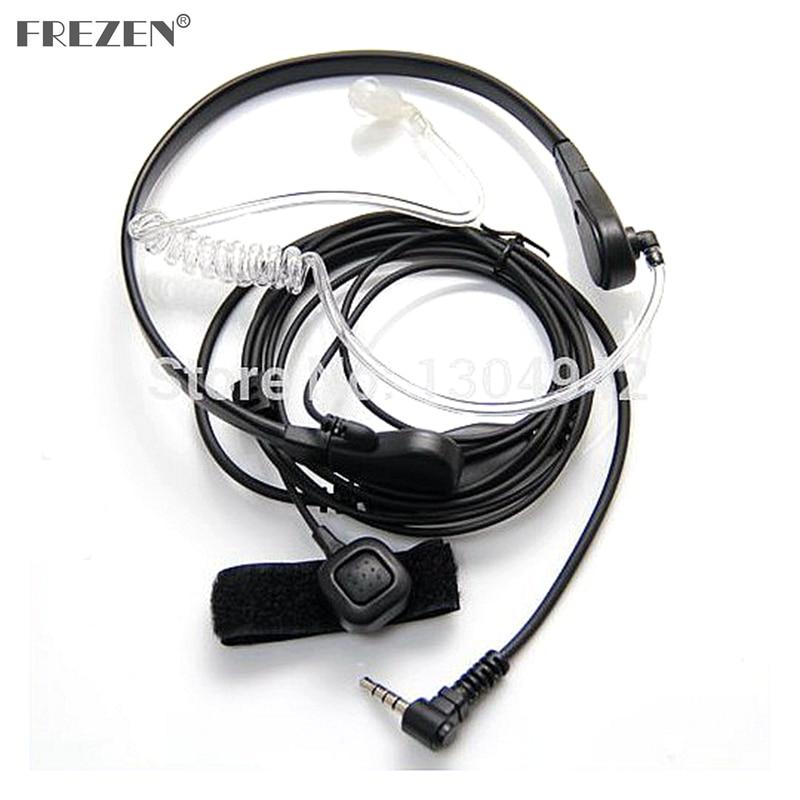 Throat Mic Microphone Covert Acoustic Tube Earpiece Headset For Yaesu Vertex VX-3R 5R 210 210A Two Way Radio Walkie Talkie 1pin