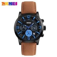 Skmei hombres deportes relojes de cuarzo reloj 30 m resistente al agua calendario completo relojes de pulsera relogio masculino 9147
