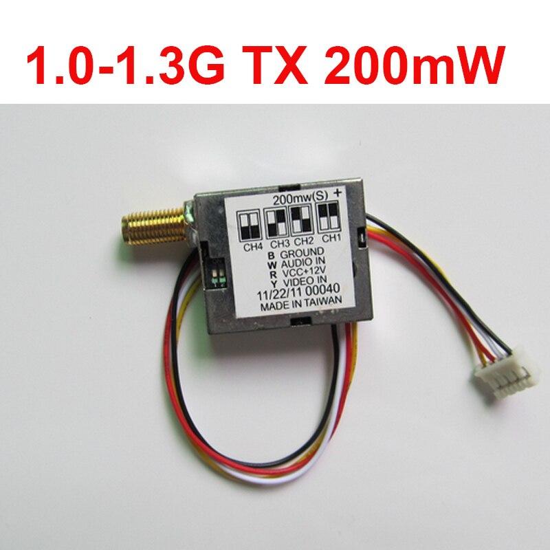0.2w 12ch 1.0-1.3G wireless transmitter 1.3G sender wireless CCTV camera transmittion mould,FPV sender drone AV transmitter fpv