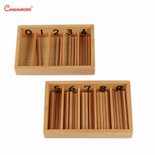 CANSMARTER Montessori Children Teaching Aids Wood Math Toy Spindle Box Red Sticks Box Numbers Materials Toy Educational MA025-34