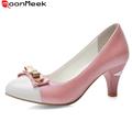 Новые прибытия отдых большой размер 33-43 мода sexy круглый toe блестками конус высокие каблуки высокое качество женщины насосы сладкий люкс обувь