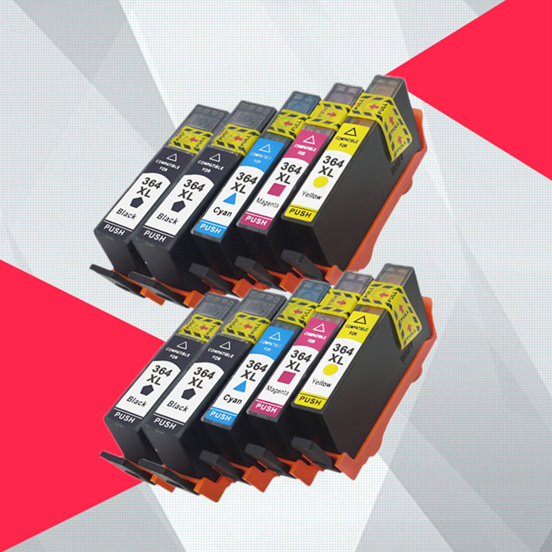 10PK Compatible Ink Cartridge Replacement for <font><b>HP</b></font> <font><b>364</b></font> XL 364xl for Deskjet 3070A 7510 photosmart 5510 5515 5520 7520 B109a 6510 image