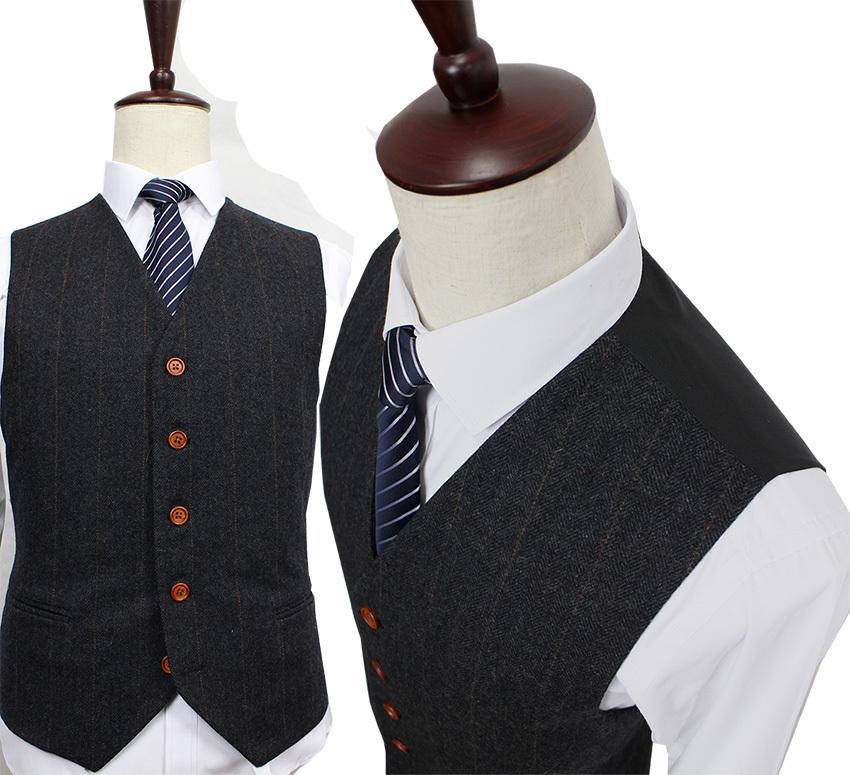 Wool-Dark-Grey-Herringbone-Tweed-tailor-slim-fit-wedding-suits-for-men-Retro-gentleman-style-custom (2)