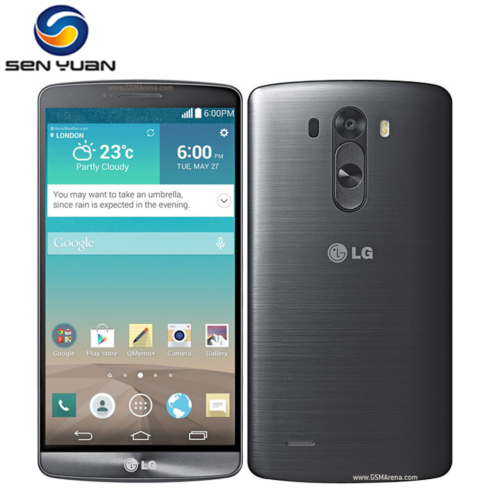 "Цена за Оригинальный lg g3 d850 d851 d855 телефон 5.5 ""Quad Core 2 ГБ RAM 16 ГБ ROM 13MP WIFI GPS g3 мобильного телефона"