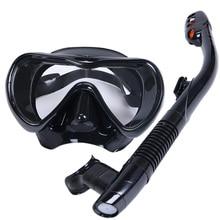 מקצועי מסיכת צלילה שנורקל אנטי ערפל משקפי משקפיים סט סיליקון שחייה דיג שנורקלינג ציוד מבוגרים
