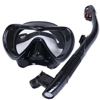 Professional Scuba Diving Mask Snorkel Anti-Fog Goggles Glasses Set Silicone Swimming Fishing Snorkeling equipment Adults цена 2017
