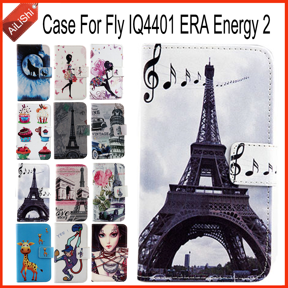 AiLiShi Hot! Case For Fly IQ4401 ERA Energy 2 Book Flip Fashion PU Leather Case Exclusive 100% Special Phone Cover Skin+Tracking