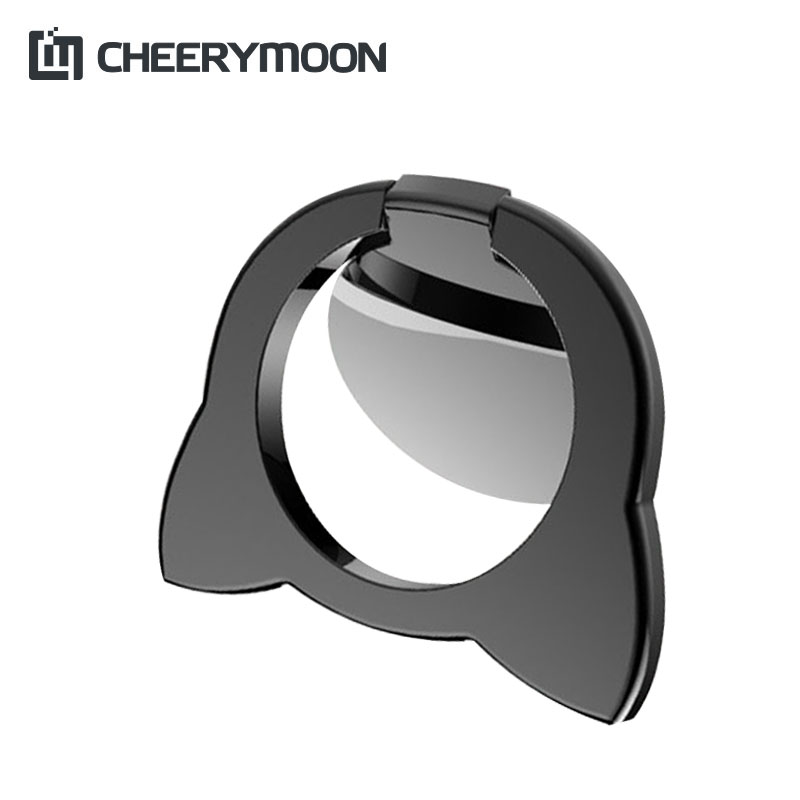 CHEERYMOON Lovely Fox Universal Mobile Phone Ring Stand Metal 360 Degree Finger Grip For iPhone 8 X Samsung Magnetic Holder