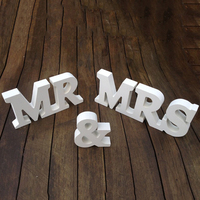 New Wooden MR MRS Ornaments Wedding Supplies Wedding Decoration Mr Mrs Letters H9 X W46cm Hot