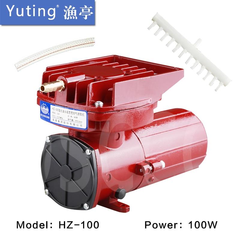 100W Fresh aquaculture aeration pump oxygen pump voltage DC12V power maximum displacement 105L min Balloon inflating