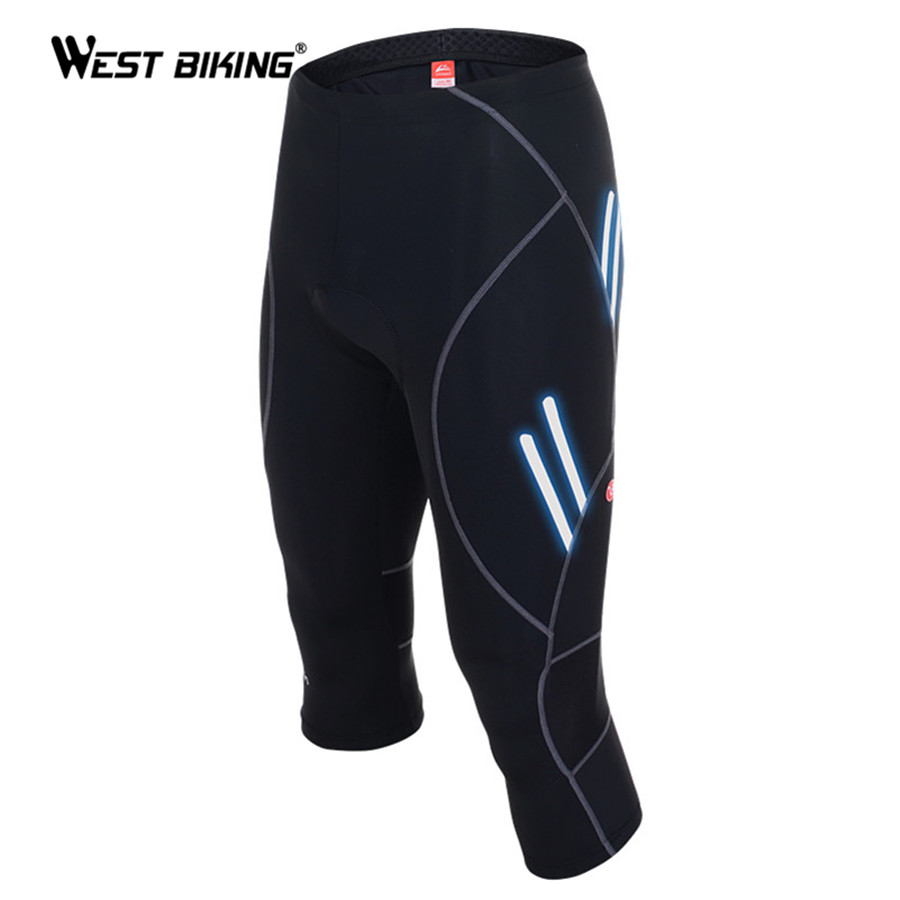 WEST BIKING 2017 Designer Men Bike Knicker with Gel 3D Padded Breathable Quick Dry Bicycle Cycling Shorts Reflective at Night west biking mtb road bike jacket 3d gel padded bicycle pants breathable quick dry cycling clothing bicycle bike jersey pants