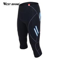 WEST BIKING 2017 Designer Men Bike Knicker with Gel 3D Padded Breathable Quick Dry Bicycle Cycling Shorts Reflective at Night