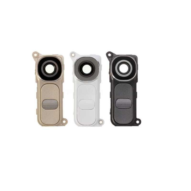 Için lg optimus G4 H815 H810 VS986 Arka Kamera Halka lens kapağı Ile Güç Anahtarı Düğmesi