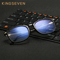 KINGSEVEN 2017 TR90+Alloy High quality Computer Goggles Anti Fatigue Radiation-resistant Reading Glasses Frame Eyeglasses 7008