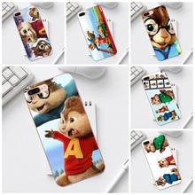 Qdowpz TPU de Alvin y las ardillas ratón para Galaxy Core Prime Nota 4 5 8 S3 S4 S5 S6 S7 S8 S9 mini Plus