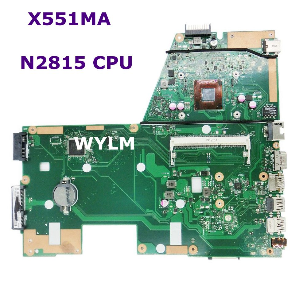 X551MA With N2815 CPU REV 2.0 Mainboard For ASUS X551MA Laptop motherboard DDR3 60NB0480-MB1500-206 100% Tested free shipping zx 1029 woman s fashionable retro colorful rhinestone inlaid bracelet multicolored