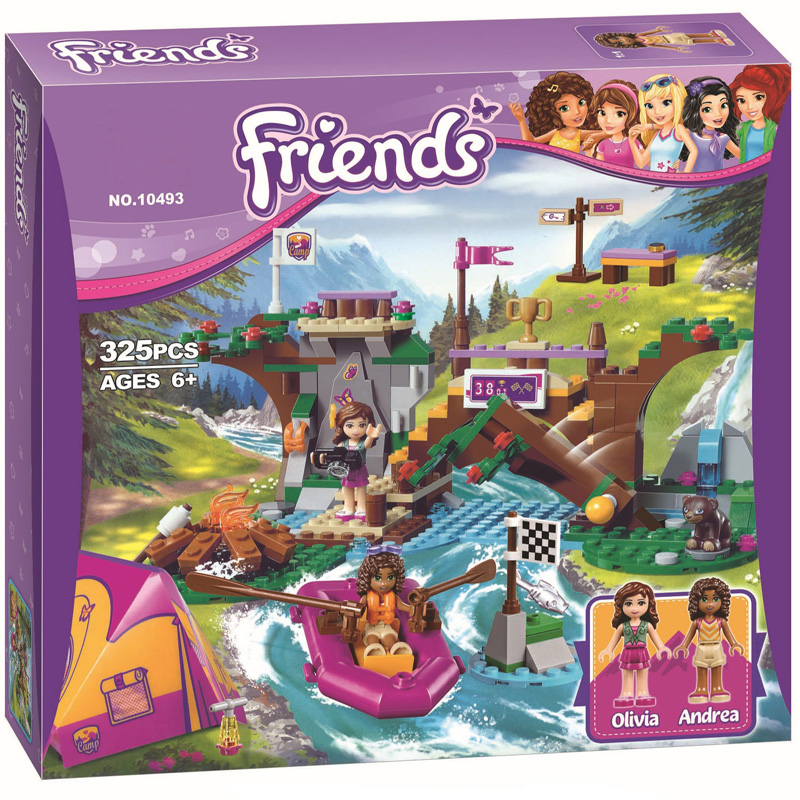 41121 Friends For Girl Rafting Adventure Camping Building Brick Blocks Sets Toys Compatible with Lepine friends 2017 hot sale girls city dream house building brick blocks sets gift toys for children compatible with lepine friends