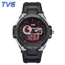 ТВГ Марка Двойной Дисплей часы аналого-цифровой дата неделя мужчин спортивные наручные часы Высокого Качества Студент каучуковый ремешок водонепроницаемые часы