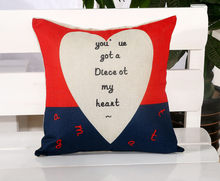 You'Ve Got A Piece At My Heart Lovers Message Pillow Massager Emoticon Throw Emoji Body Neck Pillow Massage Euro Case Cover