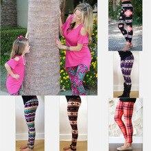 Mère et fille vêtements Maman fille Halloween Correspondant pantalon Imprimer Capris Famille Correspondant Tenues 2017 Mode Fille Leggings