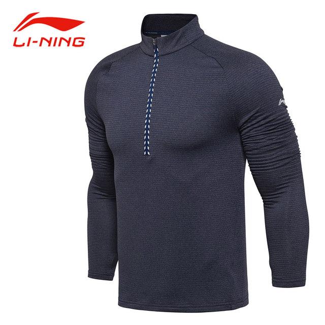 Li Ning Men Autumn Running Long Sleeve T Shirt WARM AT Technology ...