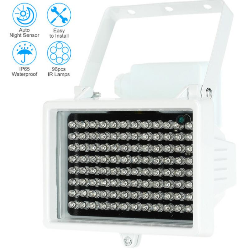 96PCS LEDs Illuminator Light IR Infrared Outdoor Waterproof Night Vision Assist LED Lamp For CCTV Surveillance Camera