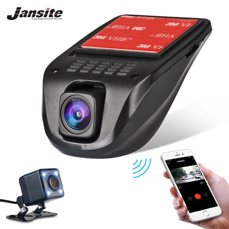 Jansite Видеорегистраторы для автомобилей Wi-Fi камеры Full HD 1080p Dash Cam видеорегистратор автомобиля запись видео видеокамера Двойной объектив dvr Па...