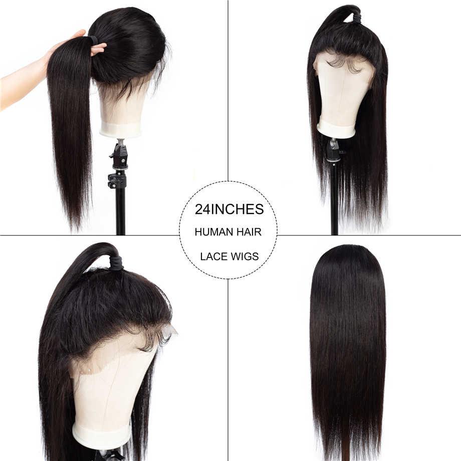 Шикарные волосы 360 синтетический фронтальный парик предварительно выщипанные волосы с волосами младенца прямые человеческие волосы парики бразильский Боб парики для черных женщин
