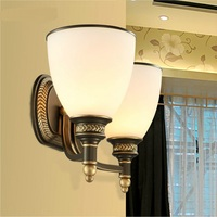 2016 new simple double walled living room bedroom bedside lamp lighting double mirror lamp m