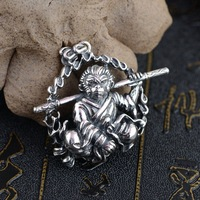 Deer King Silver Pendant Jewelry Wholesale S925 Silver Style Monkey Pendant NEW