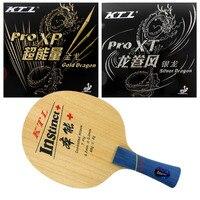 Original KTL instinct + (1009) Shakehand FL Table Tennis Blade With KTL Gold Dragon / Silver Dragon Rubbers With Sponge