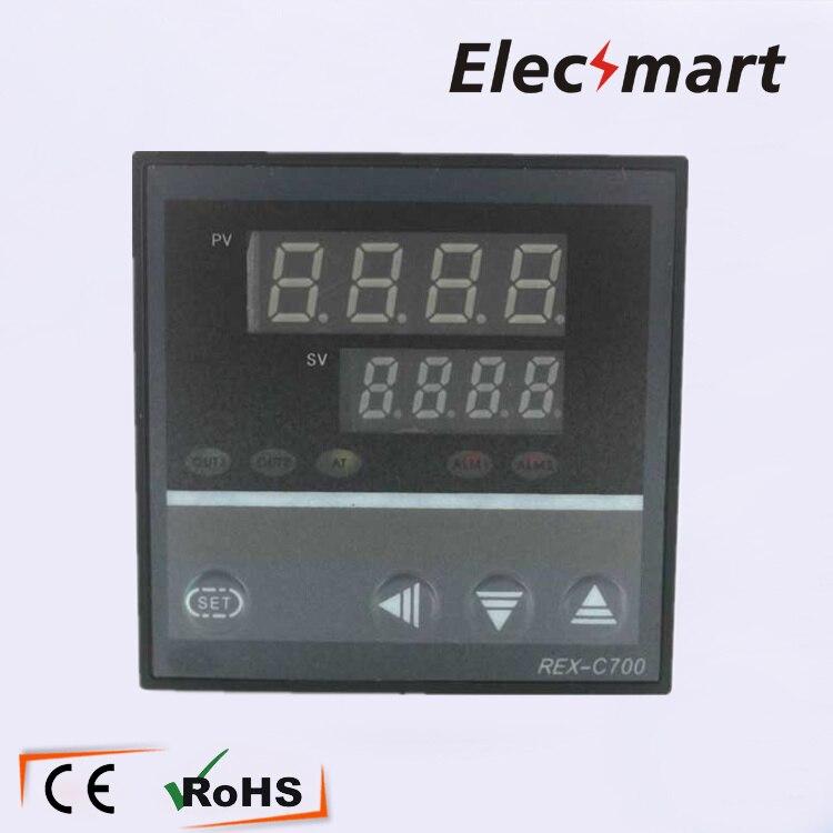 все цены на  72*72*110  REX-700C 0-400 Degree Digital PID Temperature Controller Thermostat Regulator Relay/SSR Multi-output  онлайн