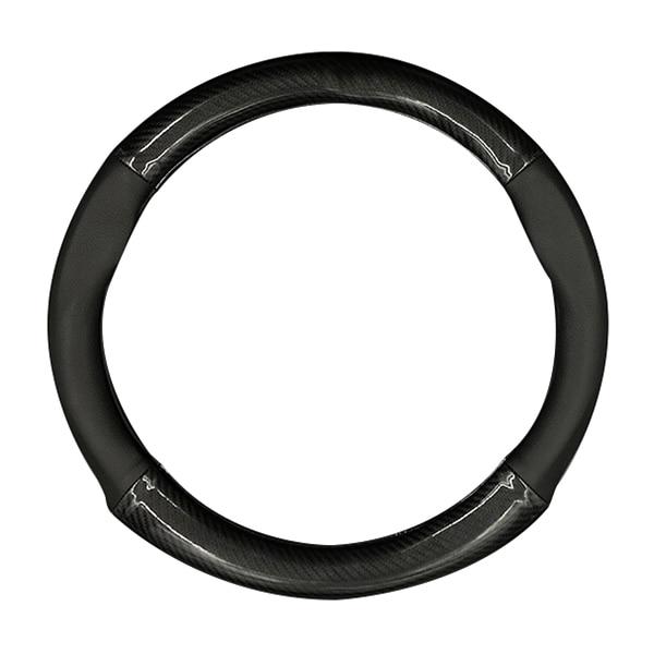 HOCASEN Car carbon fiber leather 4 quarter steering wheel cover For Infiniti QX70 FX3537
