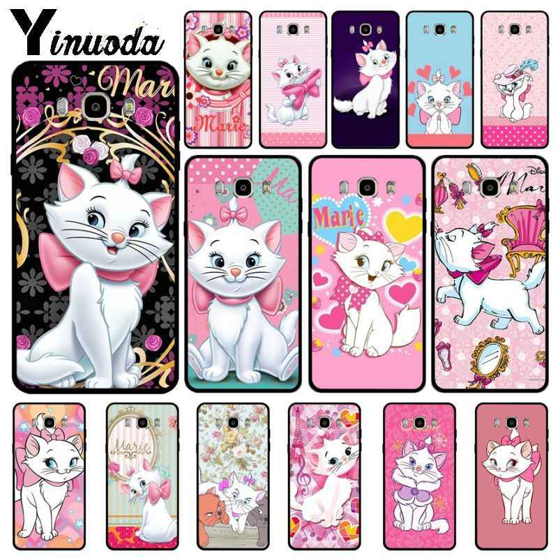 Yinuoda Pink marie aristocats Cat Soft silicone Phone Cover For Samsung Galaxy j6plus j7 prime j8 j2 prime j4plus 2018 cover