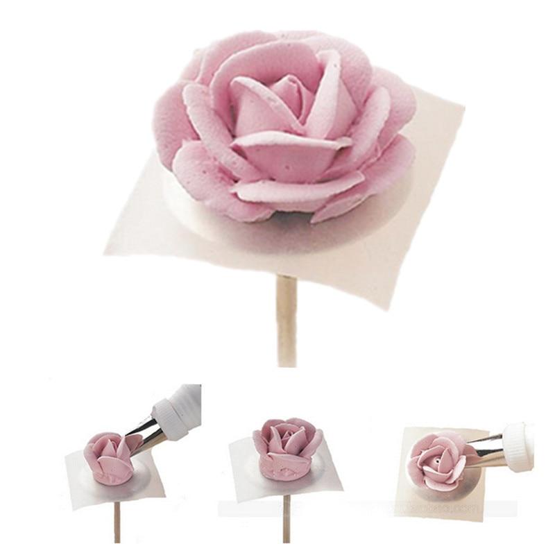 Krém torta jegesedés csövek virág díszítő papír esküvői - Konyha, étkező és bár - Fénykép 3