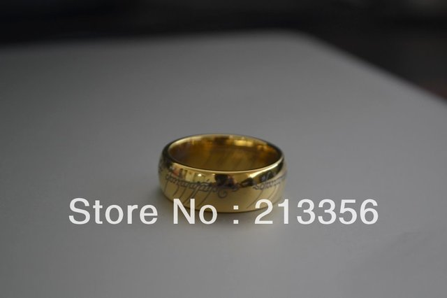 Free Shipping !Cheap Price Promotion Sales! USA Hot Selling LORD OF THE RINGS New TUNGSTEN RING MEN'S WEDDING ONE HOBBIT FRODO