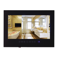 26 Inch Mirror Bathroom TV Waterproof LCD TV Black Color