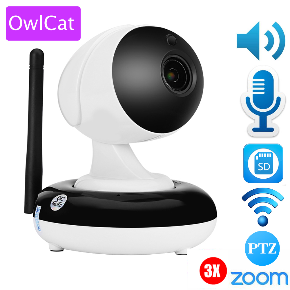 Owlcat HI3516C+SONY323 Home IP Dome PTZ Camera HD 960P 1080p 3X Auto Zoom 2.8-8mm Varifocal 1.3MP 2mp SD Card PTZ IR Onvif удлинитель zoom ecm 3