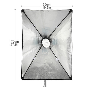 Image 2 - 50*70CM Photography Studio Wired Softbox Lamp Holder with E27 Socket for Studio Continuous Lighting Fotografie Accessoires