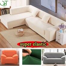 Esquina sofá cubierta elástica tramo Muebles sillón blanco Cubre caso Elástico en la esquina sofá Cubierta
