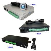 T500K كامل اللون وحدة تحكم بكسل led ؛ T-300K بطاقة SD على الانترنت T600K RGB RGBW 8 منافذ بكسل ws2811 ws2801 ws2812b led الشريط