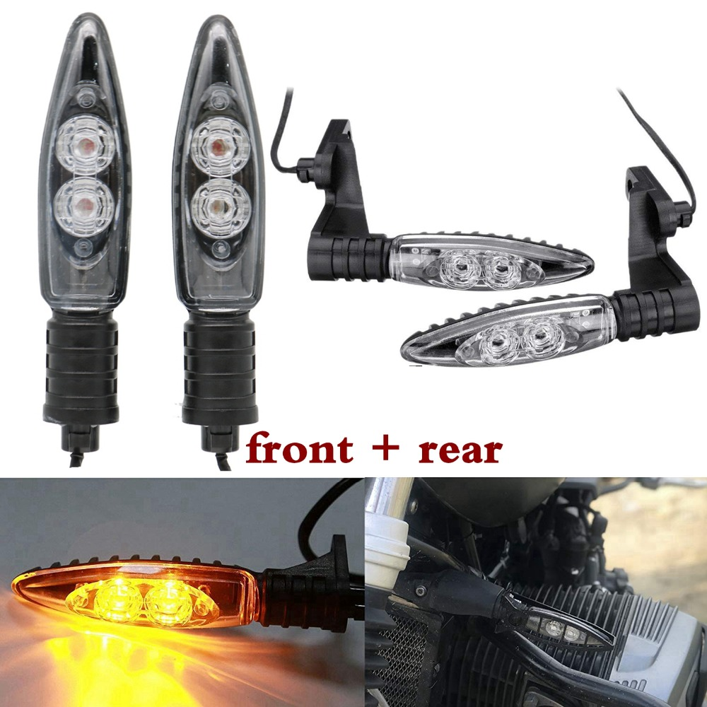 Front Rear Turn Indicator Signal LED Lights For BMW R1200GS F800GS S1000RR F800R K1300S G450X F800ST R nine T image