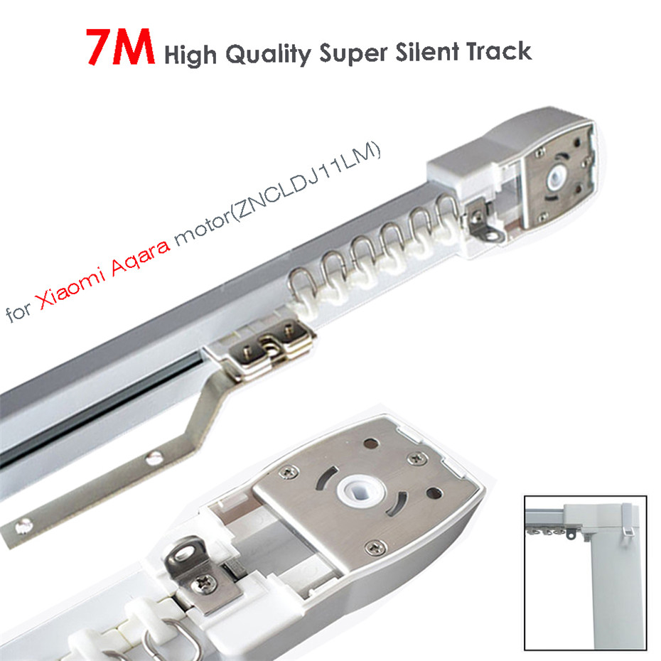 7M Or Less High Quality Track For Xiaomi Aqara Motor,Zigbee Wifi Curtain System,MI HOME App Smart Remote Control Silent Rail